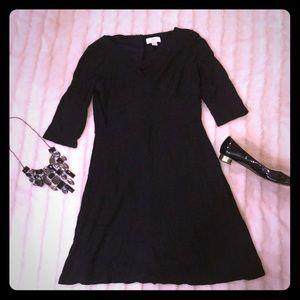 Ann Taylor Loft Black 3/4 sleeve dress, size 4.